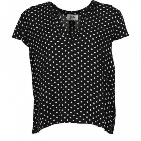 Isay - Annica V-neck Blouse - Polka Dots